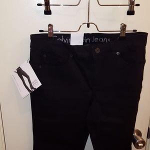 Calvin Klein curvy skinny black jeans 29p/8p nwt